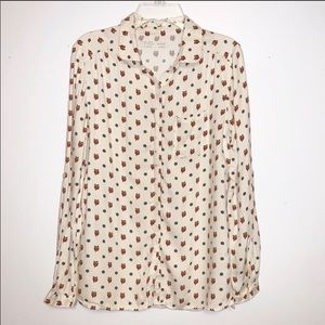 ✨2for$30✨ ZARA Girls Buttoned Up L/S Owl Top